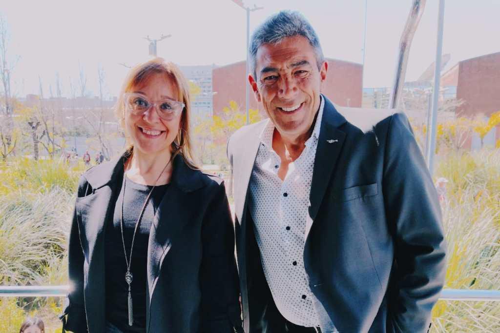 Marcela Godoy y Jorge Fomento estuvieron a cargo de la conducción del cumpleaños de Mucha Radio